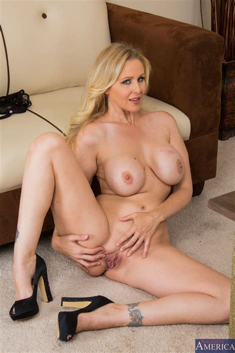 hot milf julia ann fucks in her sexy red top at the office picture 07