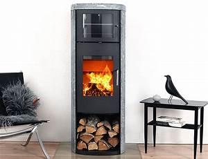 Poele A Bois 8kw : po le bois 8229 8kw noir pierre ollaire avec four ~ Dailycaller-alerts.com Idées de Décoration