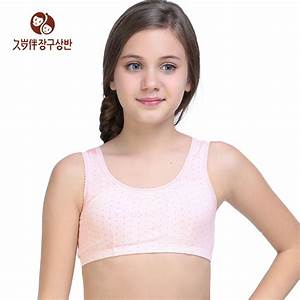 Summer Style Teenage Sports Bra Kids Padded Underwear ...