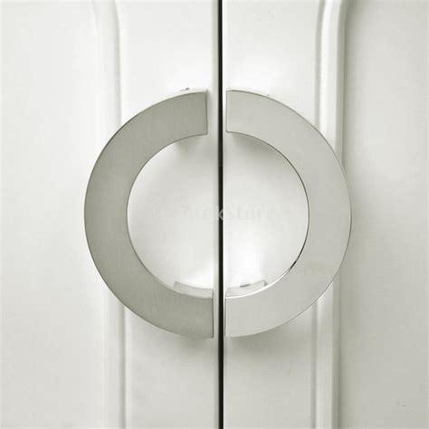 new arrivals 2015 modern sliver semi circular cabinet knob