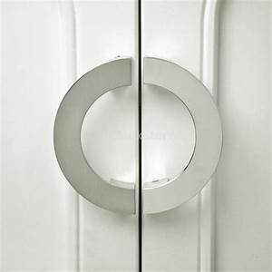 new arrivals 2015 modern sliver semi circular cabinet knob With circular door pulls