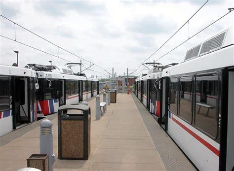 St Louis Light Rail by Lambert Airport