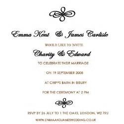 wedding invitation wording sles wedding invitations how to word wedding invitations