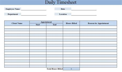 daily timesheet template free timesheet calculator excel word pdf template