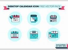 Desktop Calendar Icon Vector Pack Download Free Vector