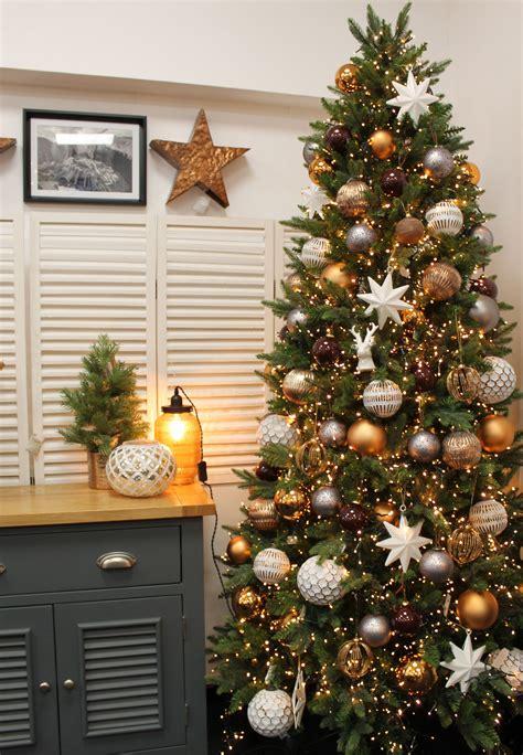 cheapest christmas trees near me copper grey brown and white tree design idea la navidad tree