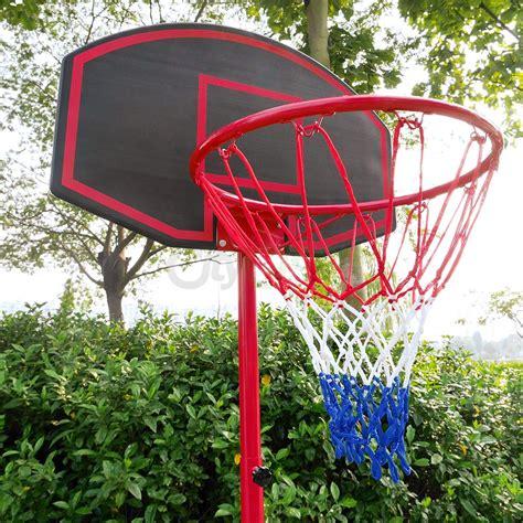 basketball hoop adjustable backboard rim portable indoor
