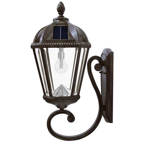 solar lantern lights gama sonic royal bulb series 1 light weathered bronze