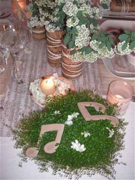 music themed table decorations graceful music themed party table decoration ideas