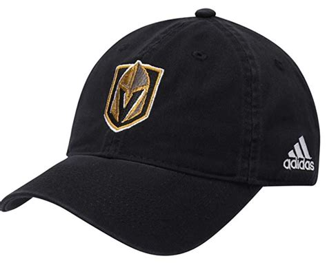 Vegas Golden Knights Adidas Primary Logo Slouch Black Hat