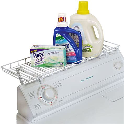 washer dryer width household essentials laundry shelf for washer or