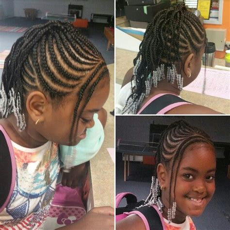 easy cute kid appropriate braided mohawk with bang