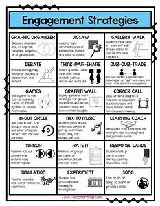 Engagement Strategies reference page - perfect to have out ...