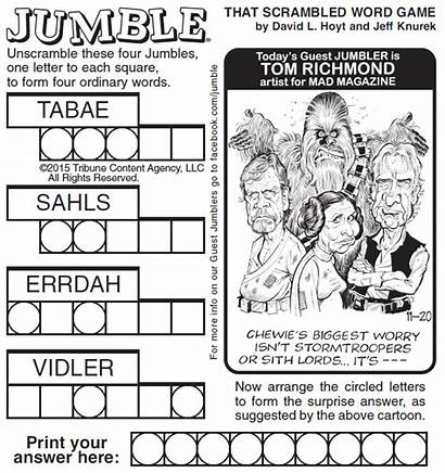 Jumble Word Puzzle Puzzles Newspaper Daily Scramble