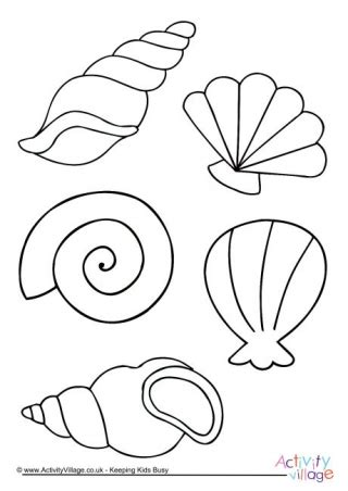 beach colouring page