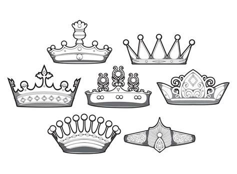 design simple crowns vector set