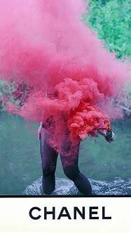 Chanel   Smoke   Pinterest   Smoke bombs, Red cloud and ...