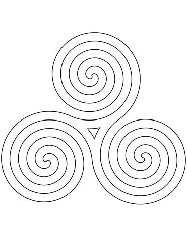 celtic spiral pattern coloring page  printable