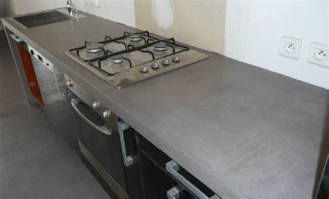plan de travail en béton ciré cuisine plan de travail cuisine en beton cire home design