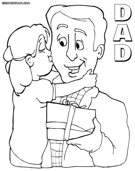 dad coloring pages coloring pages    print