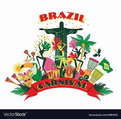 Carnival Brazilian Brazil Traditional Vector Clipart Poster
