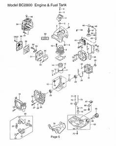 Maruyama Parts Bc2800 Engine And Fuel Tank