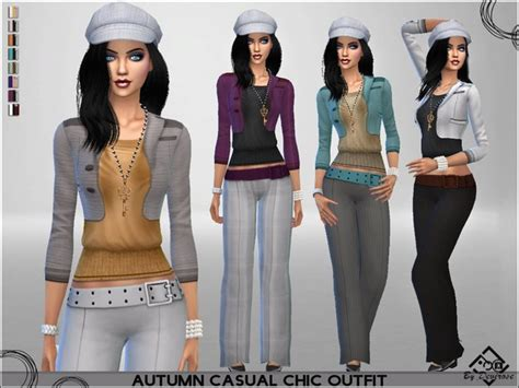 Autumn Casual Chic Outfit By Devirose At Tsr » Sims 4 Updates