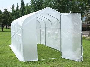 Serre Tunnel De Jardin : serre tunnel de jardin mimosa 2 blanc 9 m 4 5 x 2 ~ Melissatoandfro.com Idées de Décoration