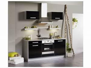 Meuble Laqué Noir : meuble cuisine noir laque ~ Premium-room.com Idées de Décoration