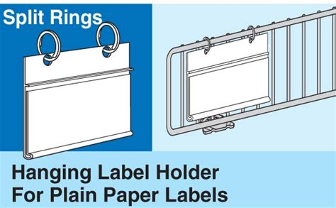 hanging label strips  plain paper labels  trion
