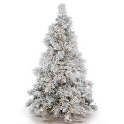 Walmart Christmas Trees Pre Lit by Vickerman Flocked White On Green Pvc 6 5 Foot Alberta