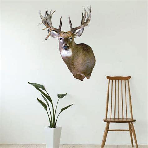 Deer Head Wall Mural Decal  Animal Wall Decal Murals