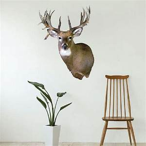 Deer head wall mural decal animal wall decal murals for Deer wall decals