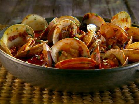 steamed clams  chorizo  tequila recipe marcela valladolid food network