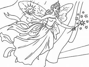 Tooth Fairy Flying Coloring Pages : Batch Coloring