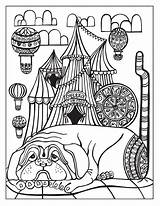 Circus Coloring Behance Adult Coloriage Cirque Stress Books Anti Sideshow sketch template
