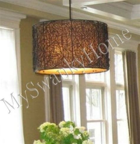 Wicker Chandelier L Shades by Twisted Woven Rattan Wicker Chandelier Horchow Hanging