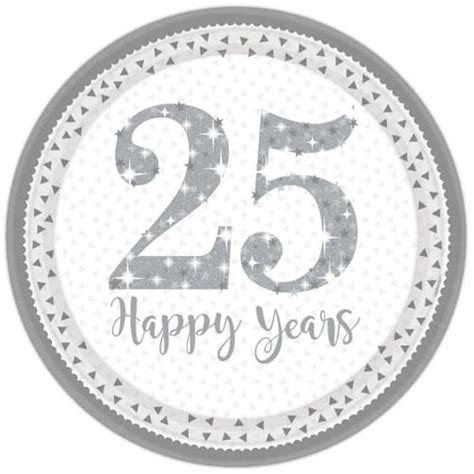 silver anniversary sparkling silver anniversary party supplies partyrama