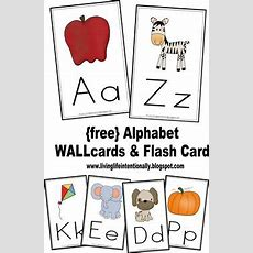 {free} Alphabet Wall Cards & Flash Cards Perfect For Preschool & Homeschooling Families Alike