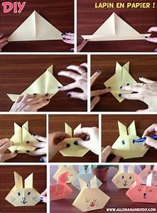Pliage Serviette Lapin Simple : origami lapin facile video ~ Melissatoandfro.com Idées de Décoration