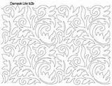 Bing Coloring Damask Quilting Sheets Sheet Stitch sketch template