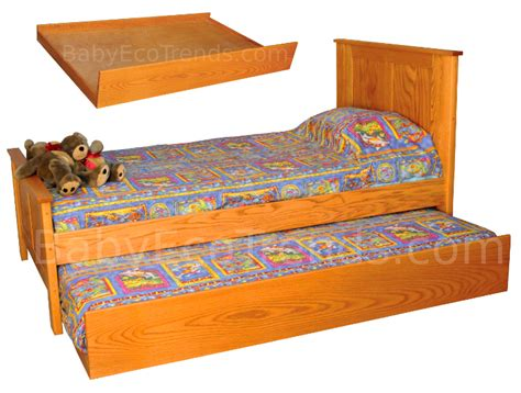 amish madison twin trundle bed solid wood childrens