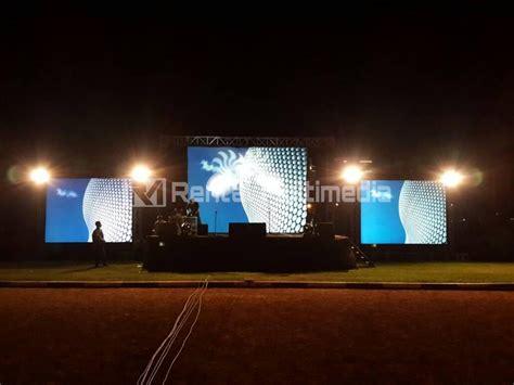 lcd proyektor outdoor giant screen  rental multimedia