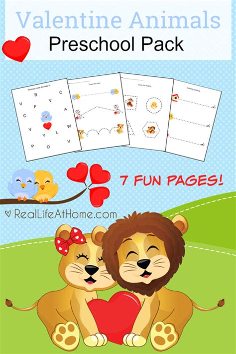 st valentine for preschool animals free preschool printables packet 744