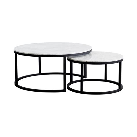 Shop the marble coffee tables collection on chairish, home of the best vintage and used furniture, decor and art. Designer Round Nesting Marble Coffee Tables - Black Steel ...