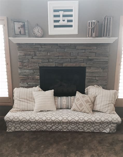 Babyproof The Fireplace Hearth With A Padded Bench! Diy
