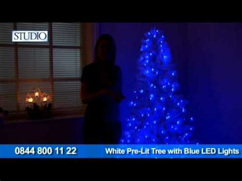 Pre Lit Christmas Tree Lights Not Working by 24studio White Pre Lit Tree With Blue Led Lights Youtube