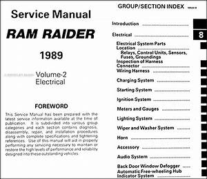 1989 Dodge Ram Raider Repair Shop Manual Original 2 Volume Set