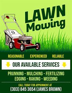 Free Flyer Maker Printable Copy Of Lawn Mowing Flyer Postermywall