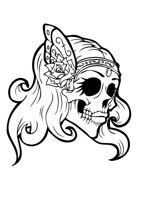 sugar skull girl coloring pages getcoloringpagescom